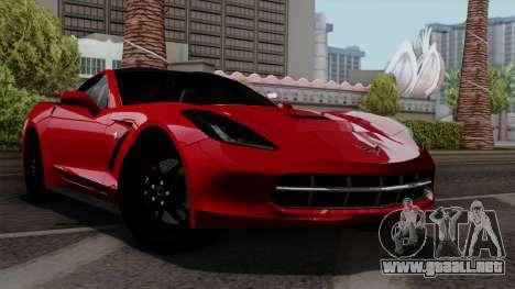 Chevrolet Corvette C7 Stingray 1.0.1 para visión interna GTA San Andreas