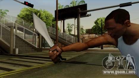 Lanzar cuchillo para GTA San Andreas tercera pantalla