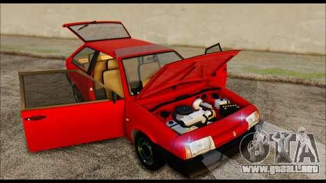 VAZ 2108 Stoke para GTA San Andreas vista hacia atrás