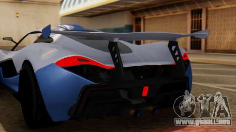 Progen T20 GTR para GTA San Andreas vista hacia atrás