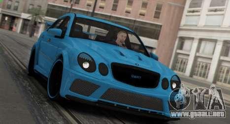 Mercedes-Benz E63 Qart Tuning para vista inferior GTA San Andreas