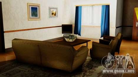 El nuevo interior de la casa de CJ para GTA San Andreas quinta pantalla