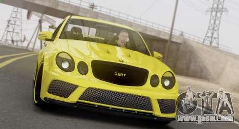 Mercedes-Benz E63 Qart Tuning para GTA San Andreas left