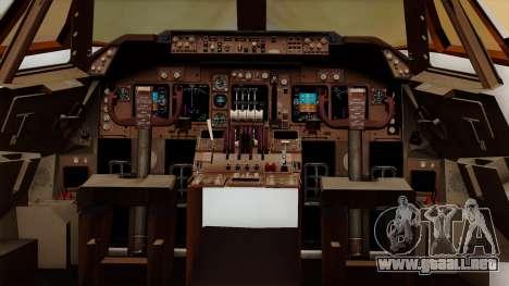 Boeing 747 British para visión interna GTA San Andreas