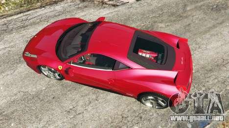 Ferrari 458 Italia v0.9.4 para GTA 5