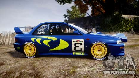 Subaru Impreza WRC 1998 World Rally para GTA 4 left