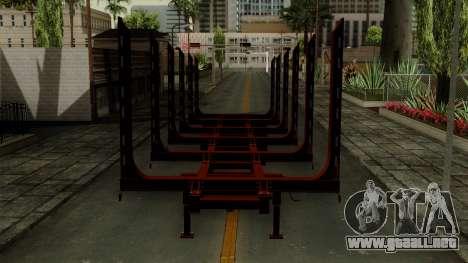 Trailer Log v1 para GTA San Andreas vista hacia atrás