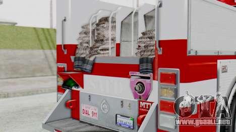 MTL SAFD Firetruck Flat Shadow para GTA San Andreas vista hacia atrás