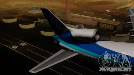 Lockheed L-1011 TriStar All Nippon Airways para GTA San Andreas vista posterior izquierda