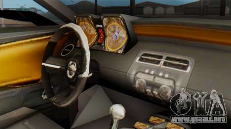 NFS Carbon Chevrolet Camaro para la visión correcta GTA San Andreas
