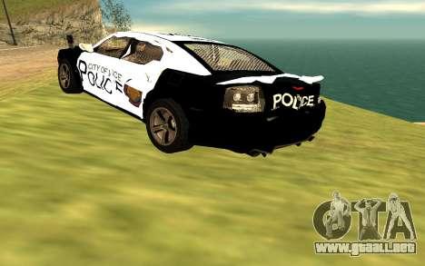 Dodge Charger Super Bee 2008 Vice City Police para GTA San Andreas vista hacia atrás