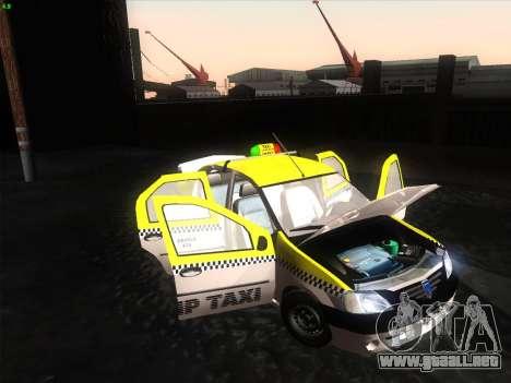 Dacia Logan Taxi UNIVIP para GTA San Andreas vista posterior izquierda