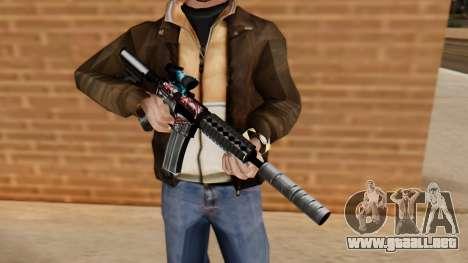 M4A1 UASS para GTA San Andreas tercera pantalla