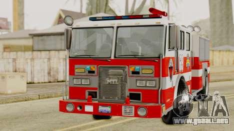 MTL SAFD Firetruck para la visión correcta GTA San Andreas