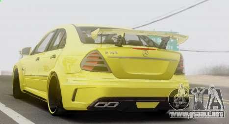Mercedes-Benz E63 Qart Tuning para la visión correcta GTA San Andreas