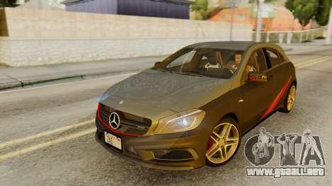 Mercedes-Benz A45 AMG 2012 PJ para el motor de GTA San Andreas