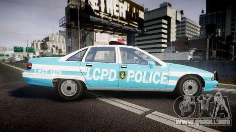 Chevrolet Caprice 1991 Police para GTA 4 left