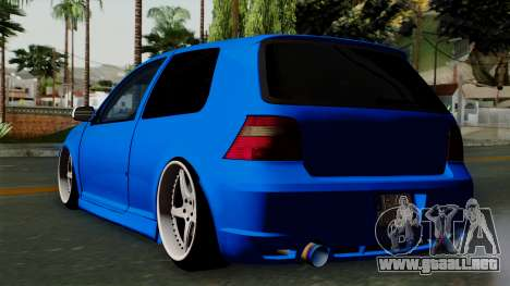 Volkswagen Golf Mk4 Stance para GTA San Andreas left