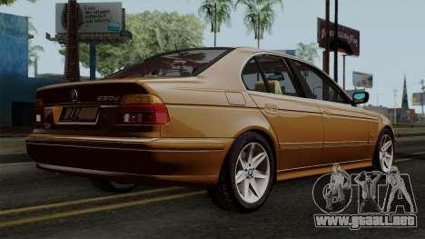 BMW 530D E39 2001 Stock para GTA San Andreas left
