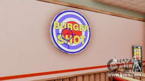 Real de comida rápida para GTA San Andreas segunda pantalla