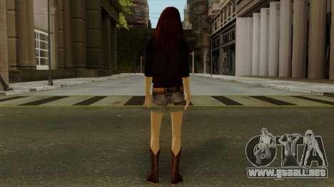 Amy Pond from Doctor Who para GTA San Andreas tercera pantalla