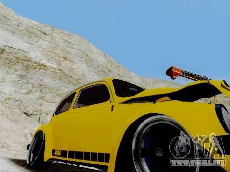 Volkswagen Escarabajo 1975 Jeans Edición Persona para la vista superior GTA San Andreas