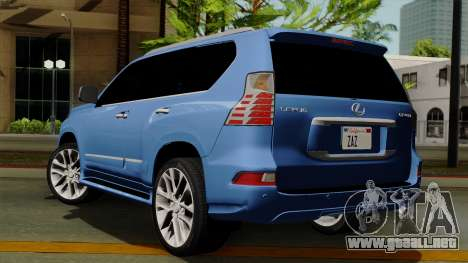 Lexus GX460 2014 v1 para GTA San Andreas left