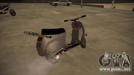 Stunt-Faggio para GTA San Andreas vista posterior izquierda