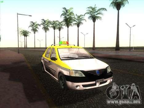 Dacia Logan Taxi UNIVIP para GTA San Andreas