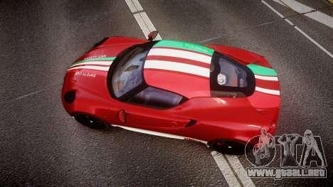 Alfa Romeo 4C 2014 SBK Safety Car para GTA 4 visión correcta