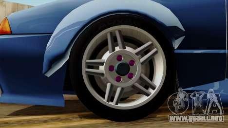 Elegy Rocket Bunny Edition para GTA San Andreas vista posterior izquierda