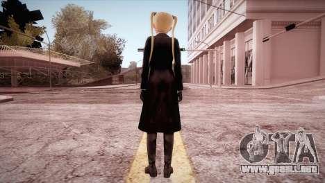 Leather Coat Short Skirt Ani para GTA San Andreas tercera pantalla