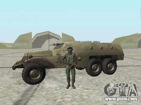 Pak combatientes de las tropas especiales del GR para GTA San Andreas octavo de pantalla
