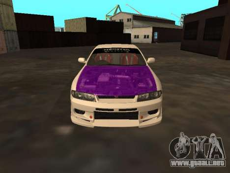 Nissan Skyline R33 Drift Monster Energy JDM para la vista superior GTA San Andreas