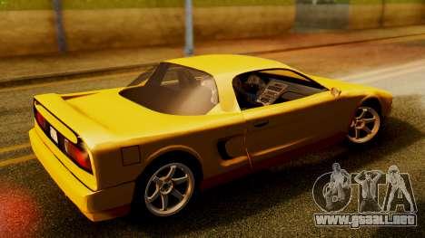 HD Infernus para GTA San Andreas vista posterior izquierda
