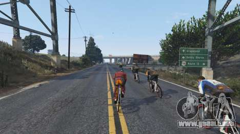 GTA 5 Downhill Racing quinta captura de pantalla