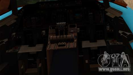 Boeing 747 Korean Air para visión interna GTA San Andreas