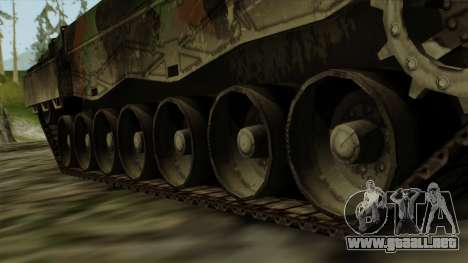 Leopard 2A4 para GTA San Andreas vista posterior izquierda
