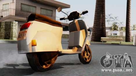 New Faggio para GTA San Andreas left