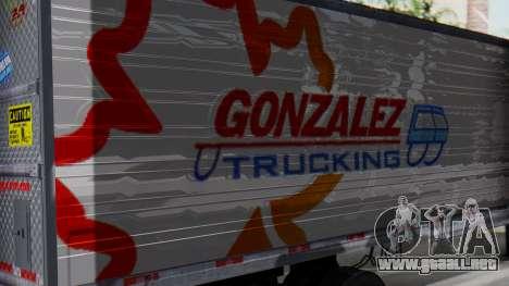 International ProStar Trailer para GTA San Andreas vista posterior izquierda