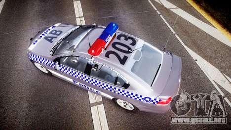 Holden VE Commodore SS Highway Patrol [ELS] para GTA 4 visión correcta