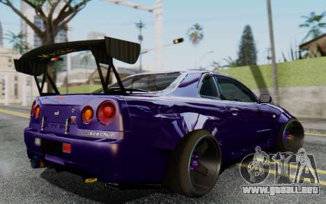 Nissan Skyline GT-R R34 Battle Machine para GTA San Andreas left