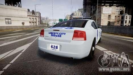 Dodge Charger NOOSE [ELS] para GTA 4 Vista posterior izquierda