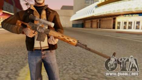 SVD SA de Estilo para GTA San Andreas tercera pantalla