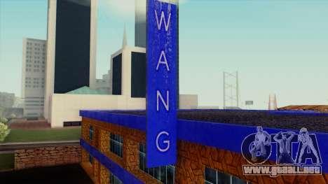 Wang Coches Showroom para GTA San Andreas tercera pantalla