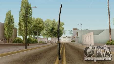 Original HD Katana para GTA San Andreas tercera pantalla