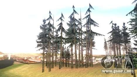 Vegetation Original Quality v3 para GTA San Andreas sucesivamente de pantalla