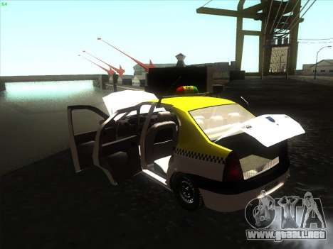 Dacia Logan Taxi UNIVIP para la visión correcta GTA San Andreas