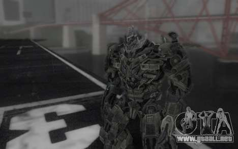 Megatron TF3 para GTA San Andreas segunda pantalla