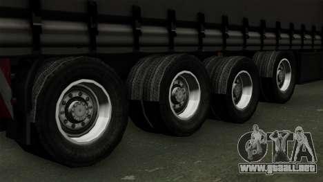Trailer Krone Profiliner v4 para GTA San Andreas vista posterior izquierda